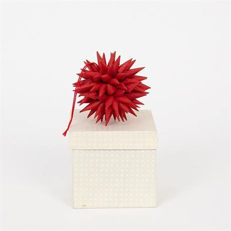 Kotte Paper Spike Ornament - Red - Pretty Shiny Shop