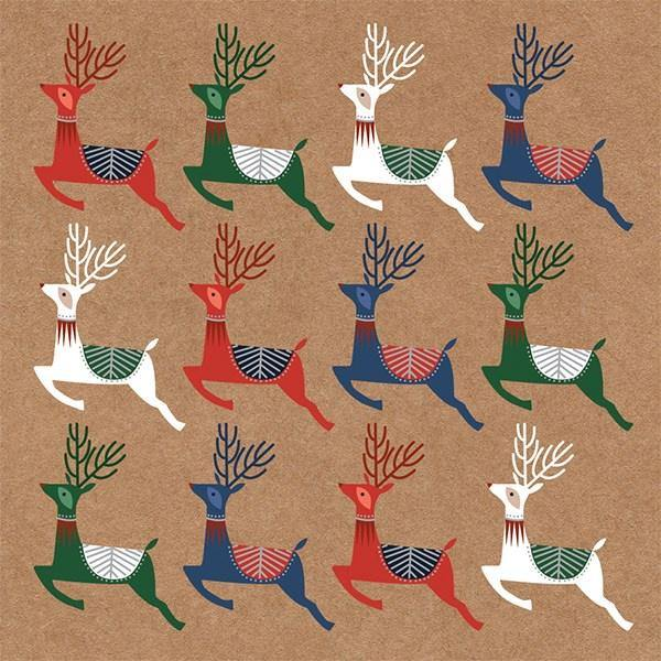 Multi-Coloured Deer Card Set - Pretty Shiny Shop