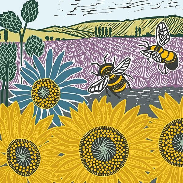 Sunflowers And Bees Card - Pretty Shiny Shop