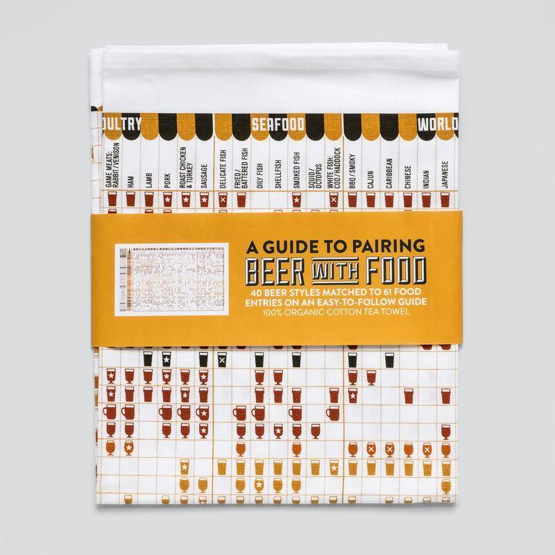 Pairing Beer With Food Tea Towel - Pretty Shiny Shop