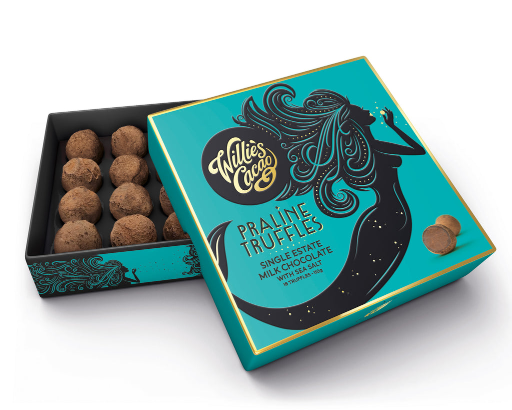 Milk Chocolate Praline Truffles With Sea Salt Gift Box