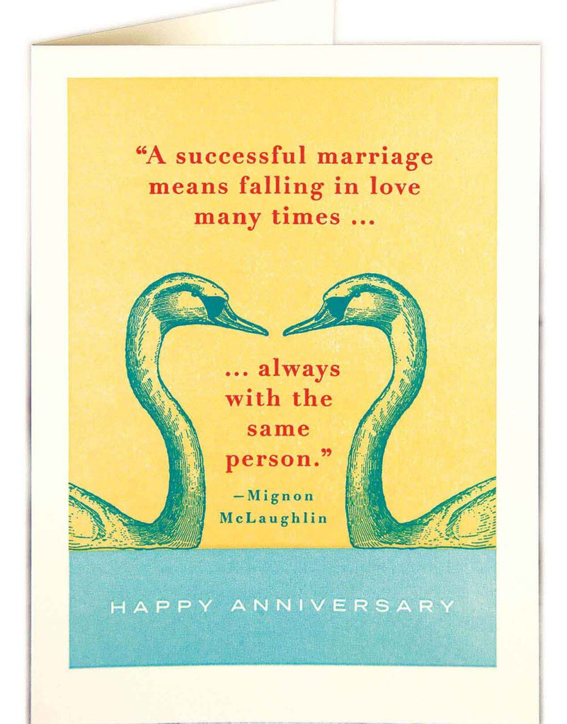 Swans Anniversary Card