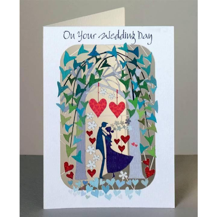 Your Wedding Day Arch Laser Cut Card