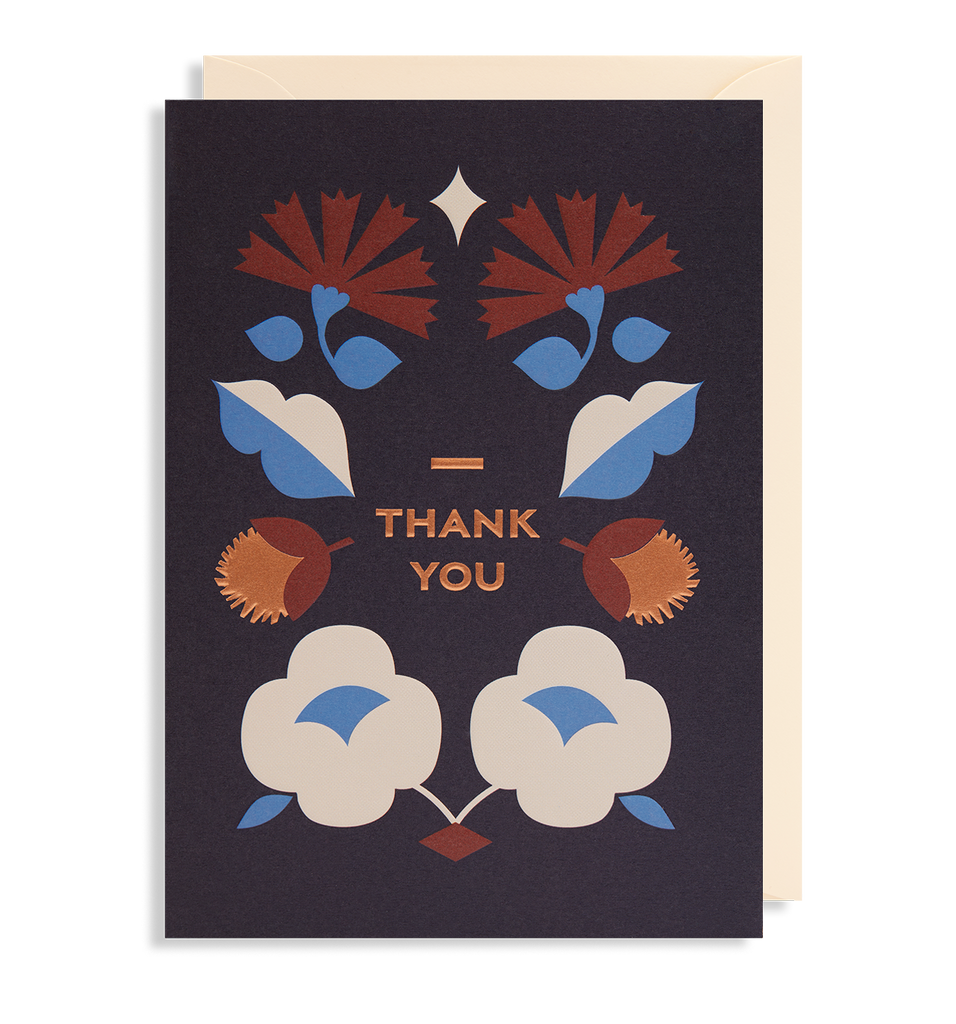 Thank You Folk Card - Pretty Shiny Shop
