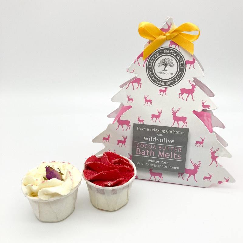 Christmas Bath Melts - Winter Rose and Pomegranate - Pretty Shiny Shop