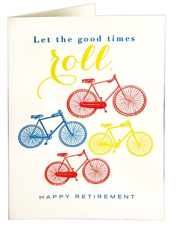 Retirement Card Good times Roll