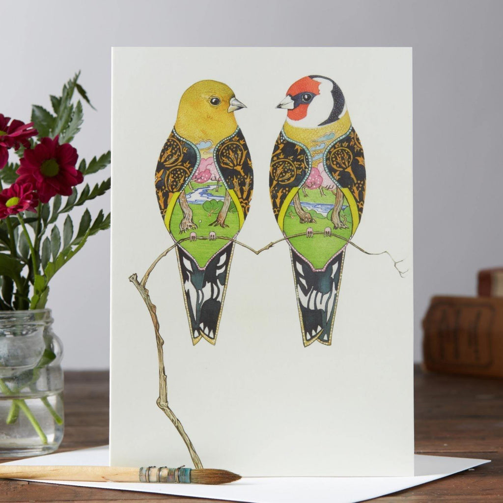 Goldfinches Card - Pretty Shiny Shop