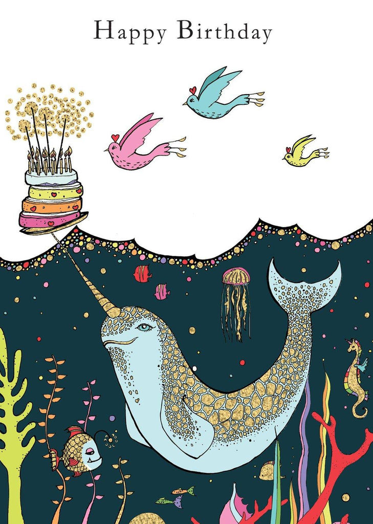 Narwhal Birthday Card - Pretty Shiny Shop