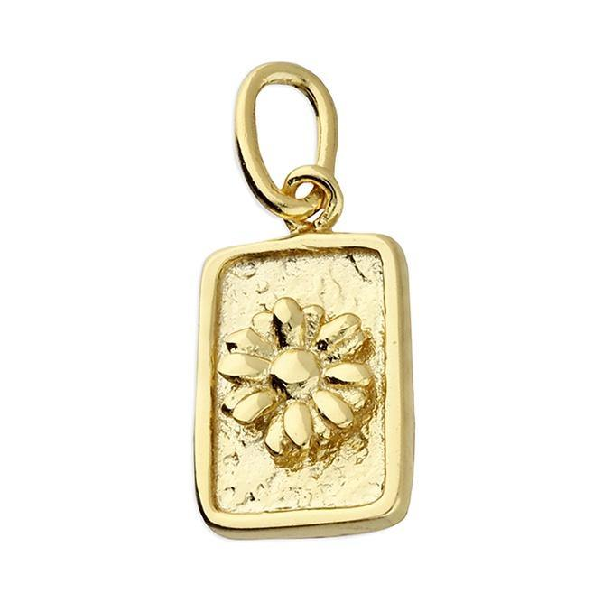 Daisy Charm Pendant with Chain - Pretty Shiny Shop