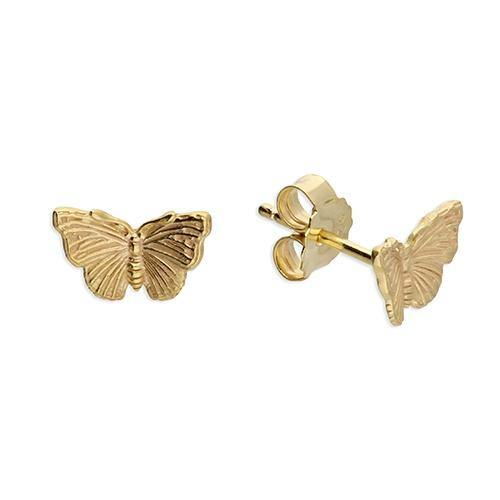 Golden Butterfly Studs