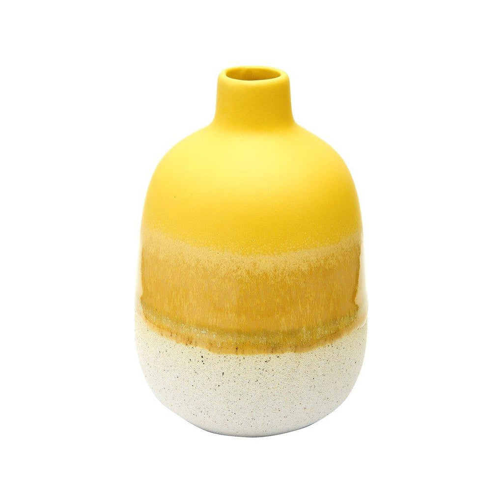 Mojave Glaze Vase - Yellow - Pretty Shiny Shop
