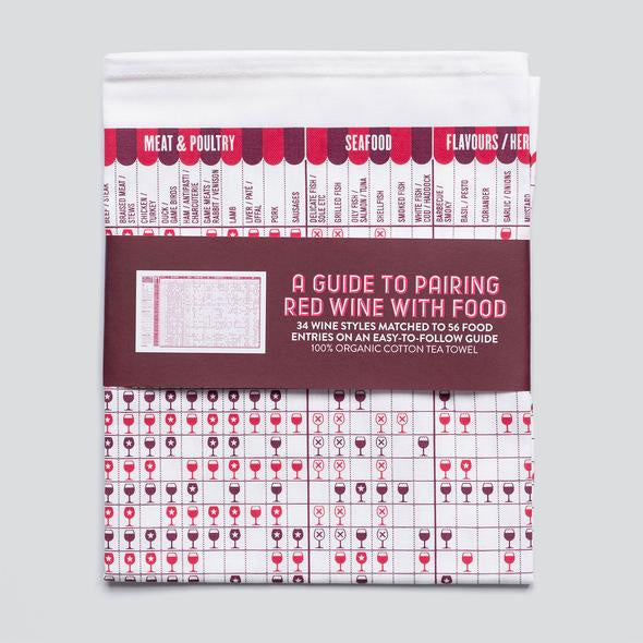 Red Wine Guide Tea Towel