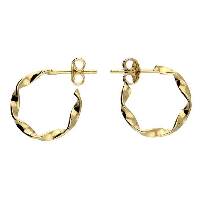 Twisted Hoop Stud - Gold - Pretty Shiny Shop