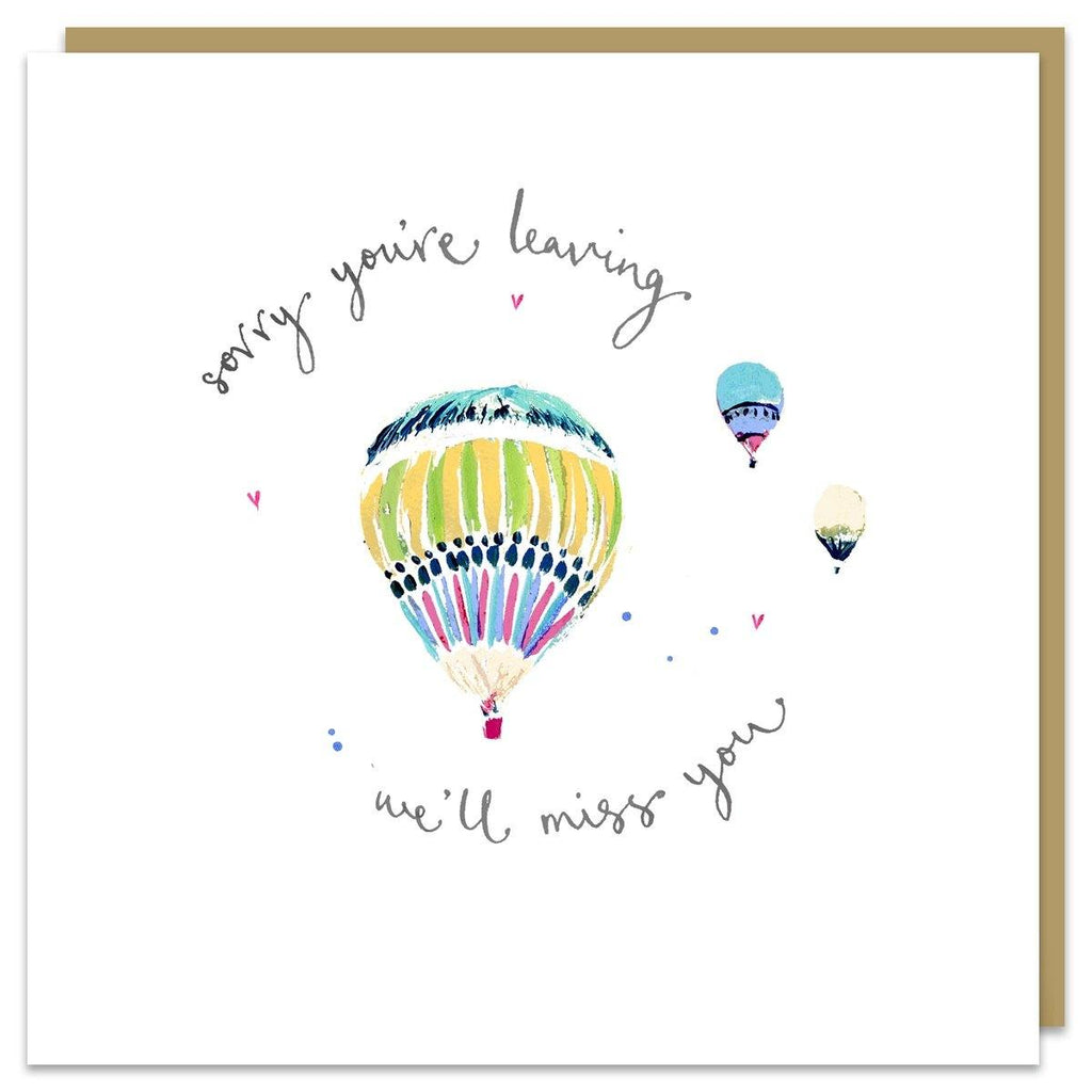 Sorry You're Leaving Balloons Card - Pretty Shiny Shop