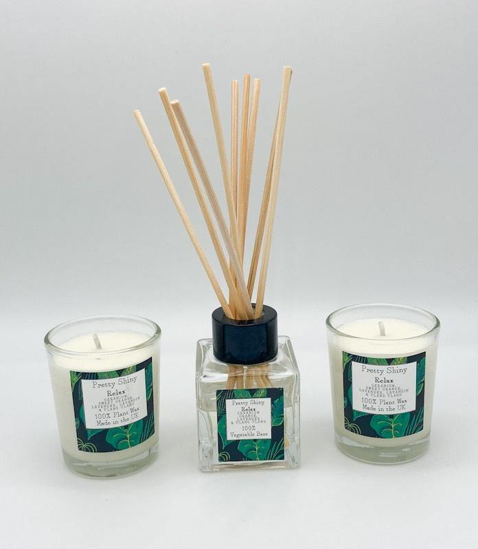 Relax Reed  Diffuser and Votive Gift