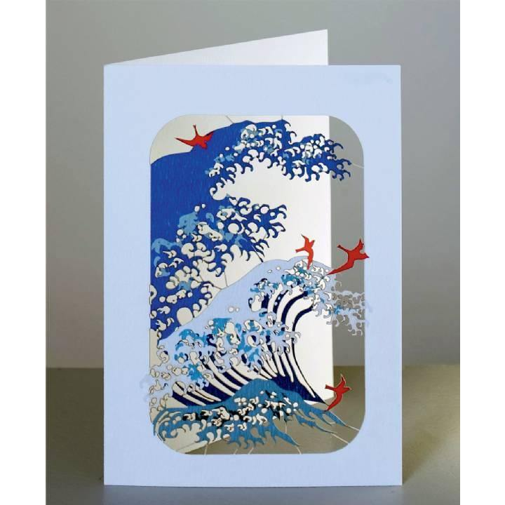 Wave And Birds Laser Cut Card