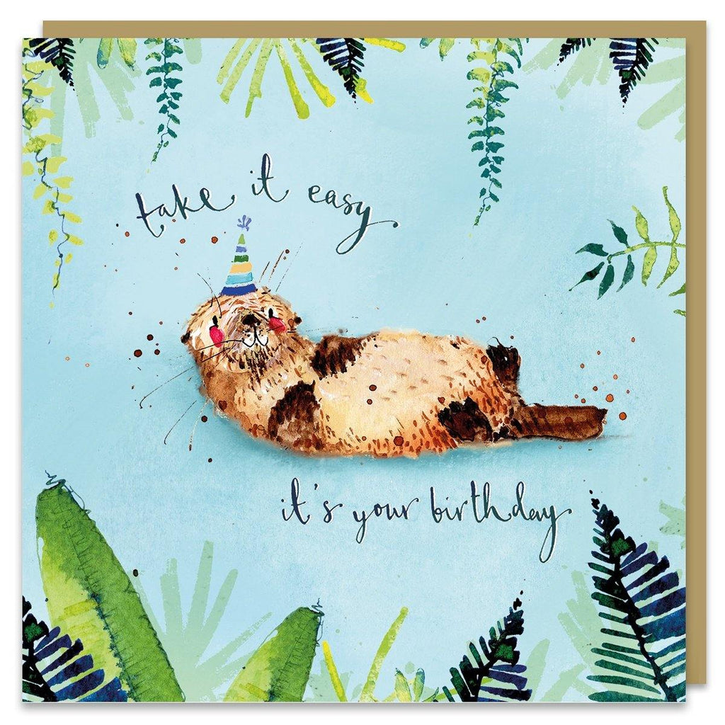 It's Your Birthday Otter Card - Pretty Shiny Shop
