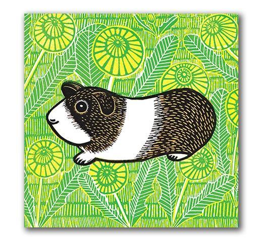 Guinea Pig Card - Pretty Shiny Shop