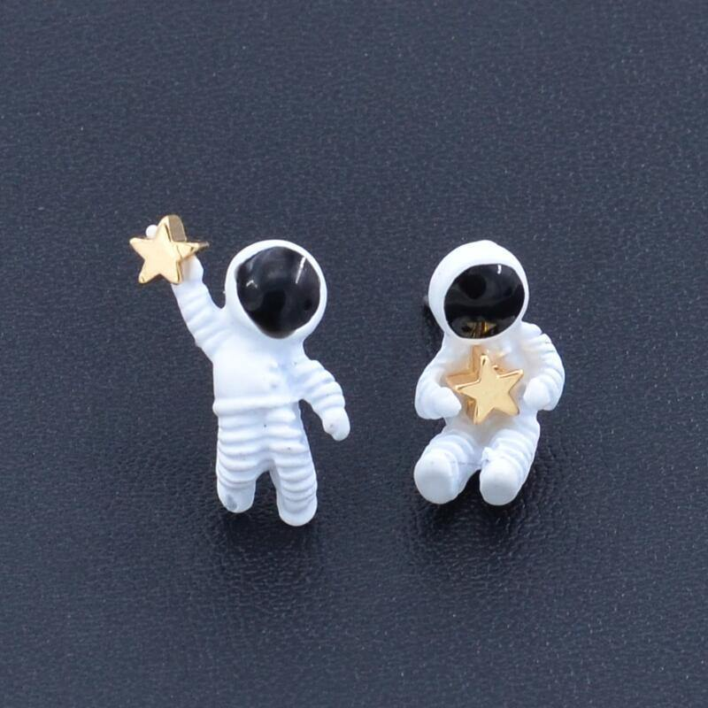 Astronaut with Stars Studs
