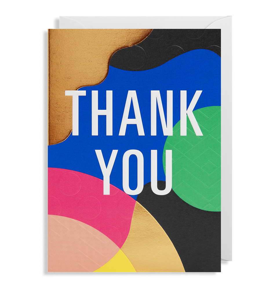 Thank You Colours Card - Pretty Shiny Shop