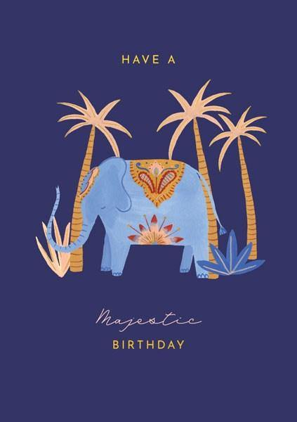 Majestic Elephant Card - Pretty Shiny Shop