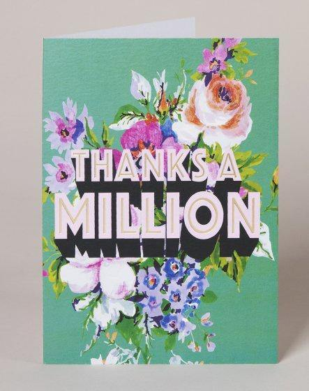 Thanks A Million Card