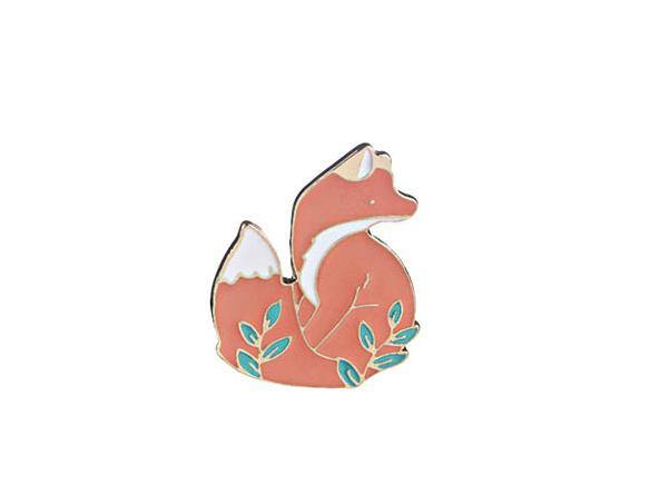 Fancy Fox Pin - Pretty Shiny Shop