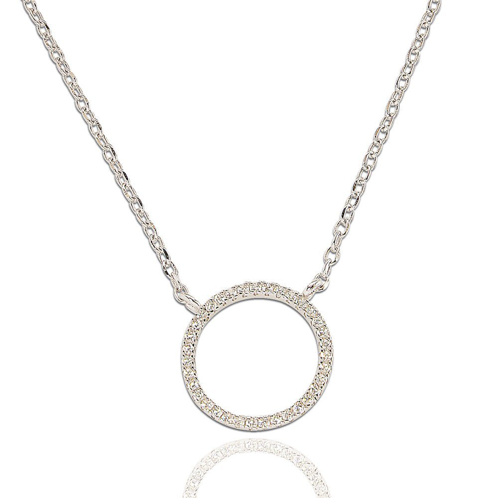 Round Of Sparkle Necklace - Silver