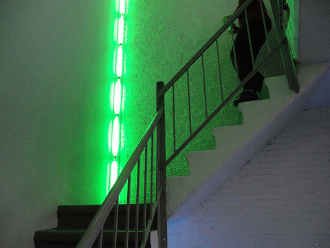 Dan Flavin Installation in Stairwell at Dia Beacon