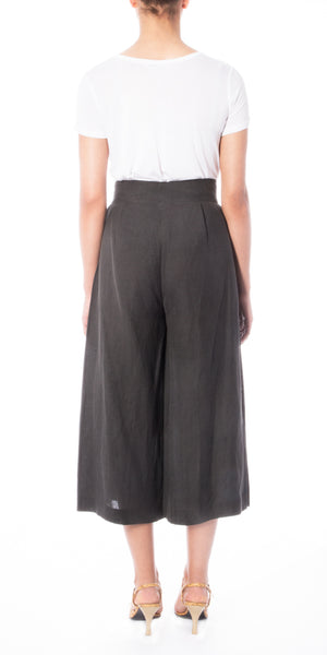 Charcoal Pleated Culottes