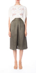 Olive Pleated Culottes