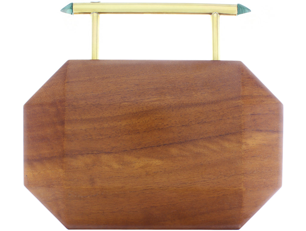 Afrodet wooden clutch