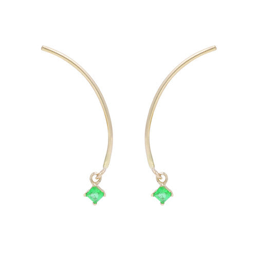 "Arc ""Mobile"" Earrings - Emerald"