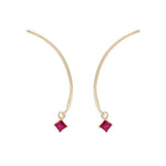 "Arc ""Mobile"" Earrings - Ruby"