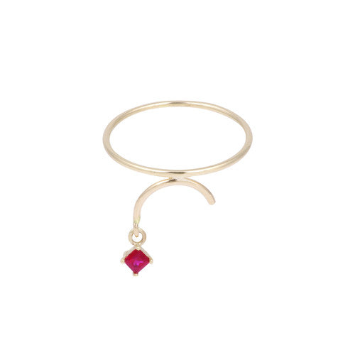 Arc Ring - Ruby