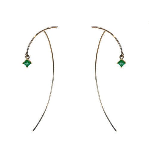 "Arc ""Stabile"" Earrings - Emerald"