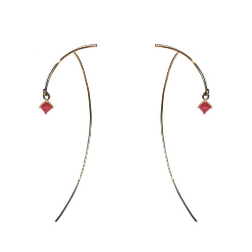 "Arc ""Stabile"" Earrings - Ruby"