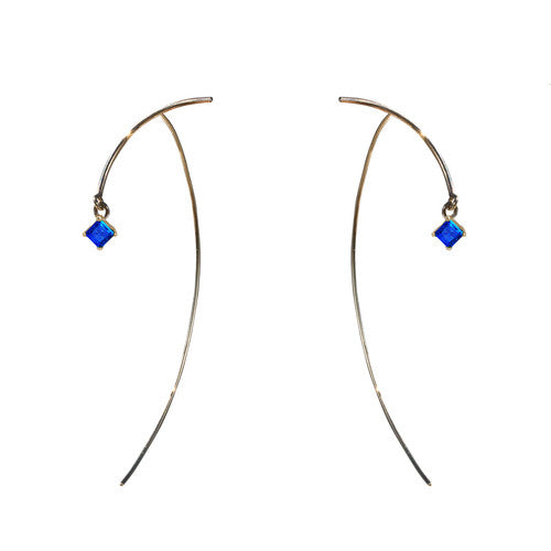 "Arc ""Stabile"" Earrings - Sapphire"