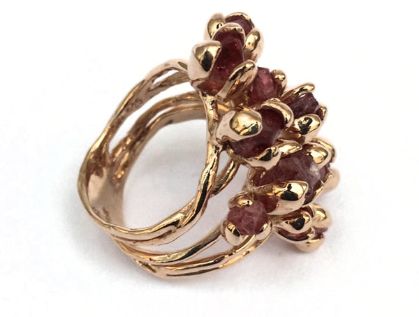 Blooming Multi-Crystal Ring