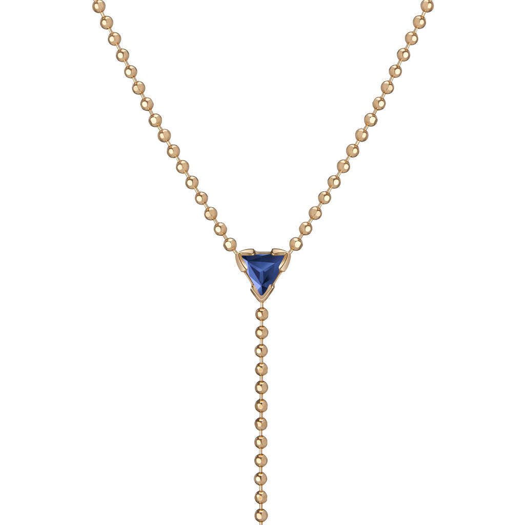 "14K Gold Birthstone ""Y"" Lariat Necklace"