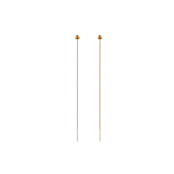 14K Gold Birthstone Threader