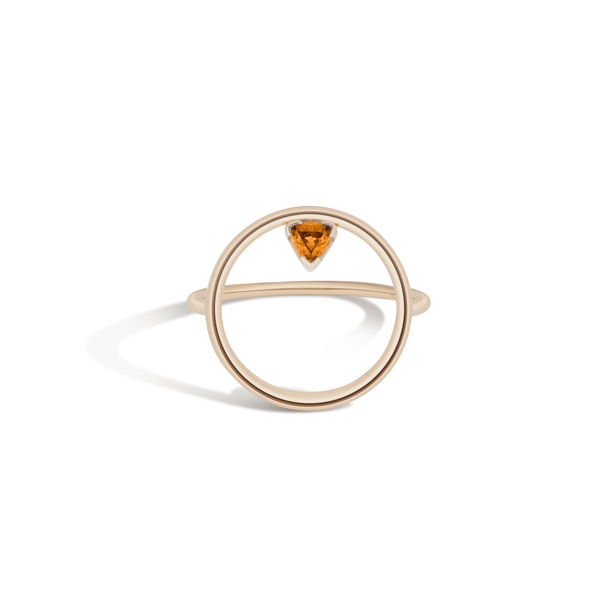 14K Gold Birthstone Hoop Ring