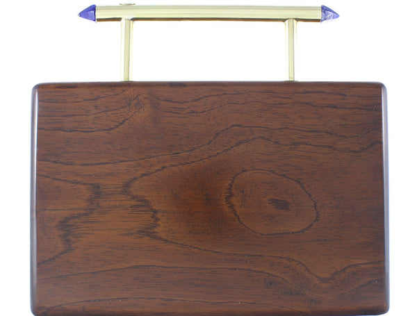 Kat wooden clutch (dark stain)