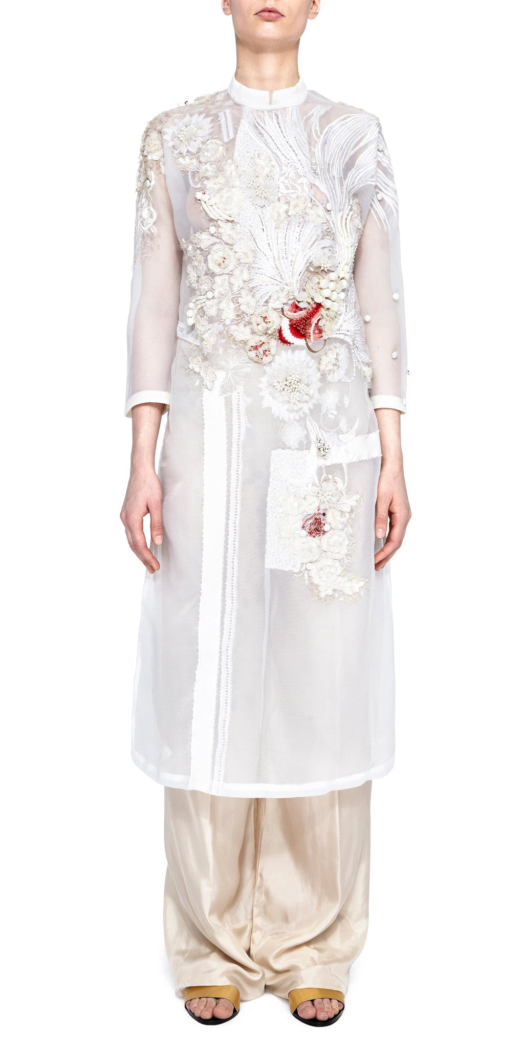 White Áo dài Dress