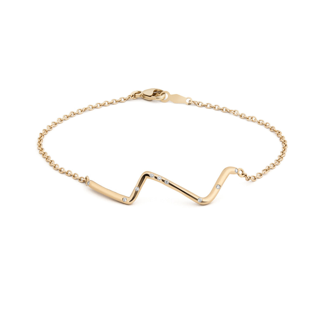 14K Gold Subway Bracelet - Upper West Side to Lower East Side