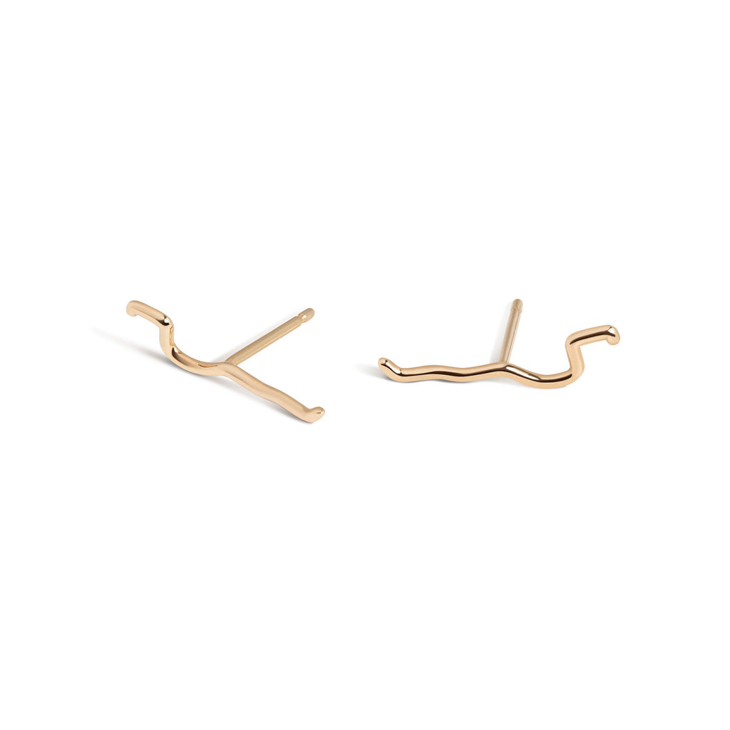 14K Gold Subway Fine Studs - Harlem to South Ferry