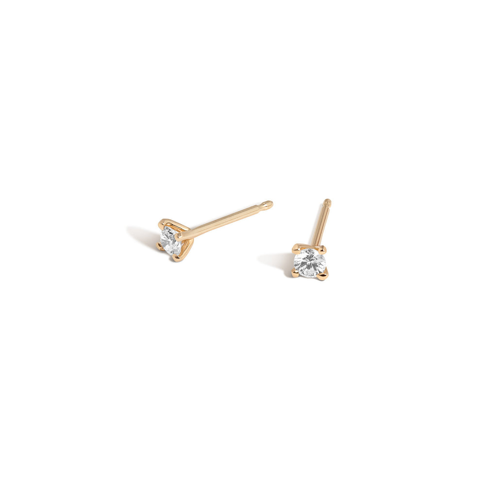 14K Gold Subway Studs - Express Stop