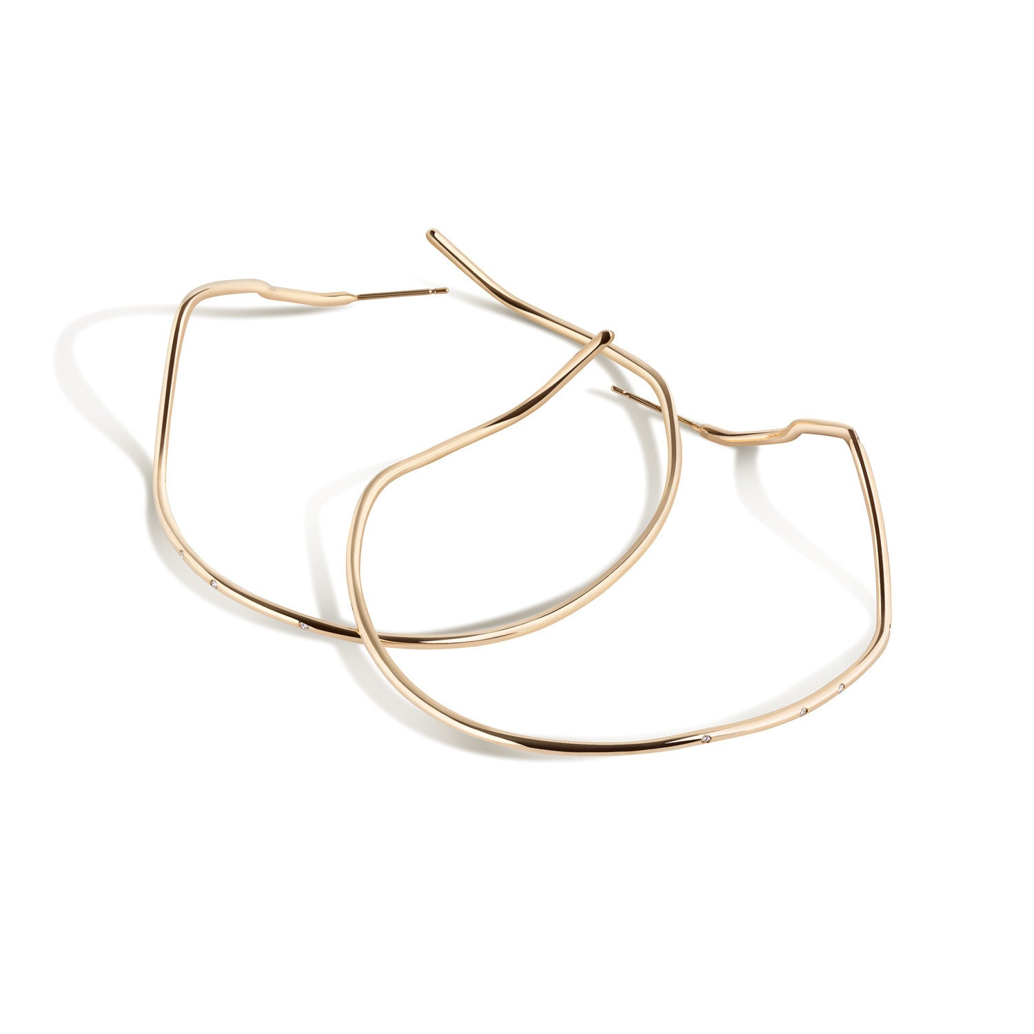 14K Gold Subway Hoops - Inwood to World Trade Center