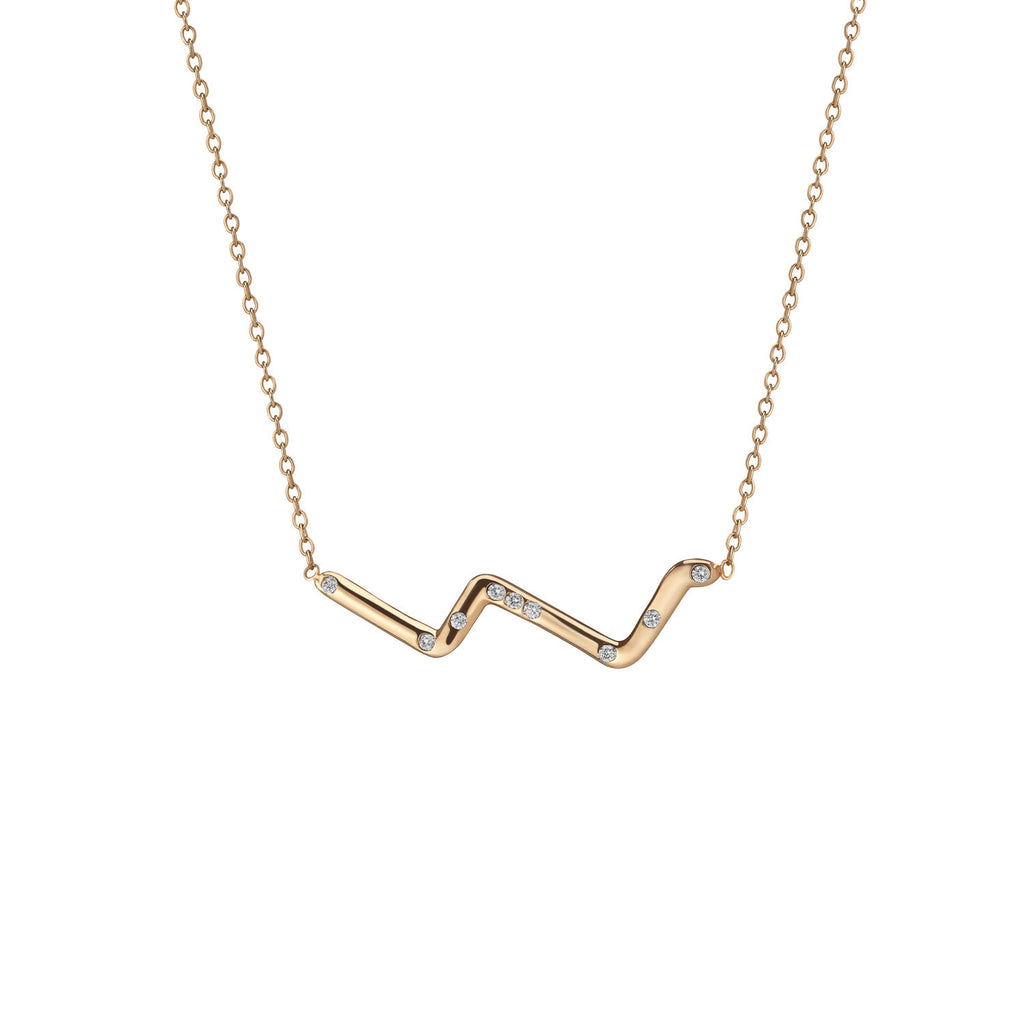 14K Gold Subway Necklace - Upper West Side to Lower East Side