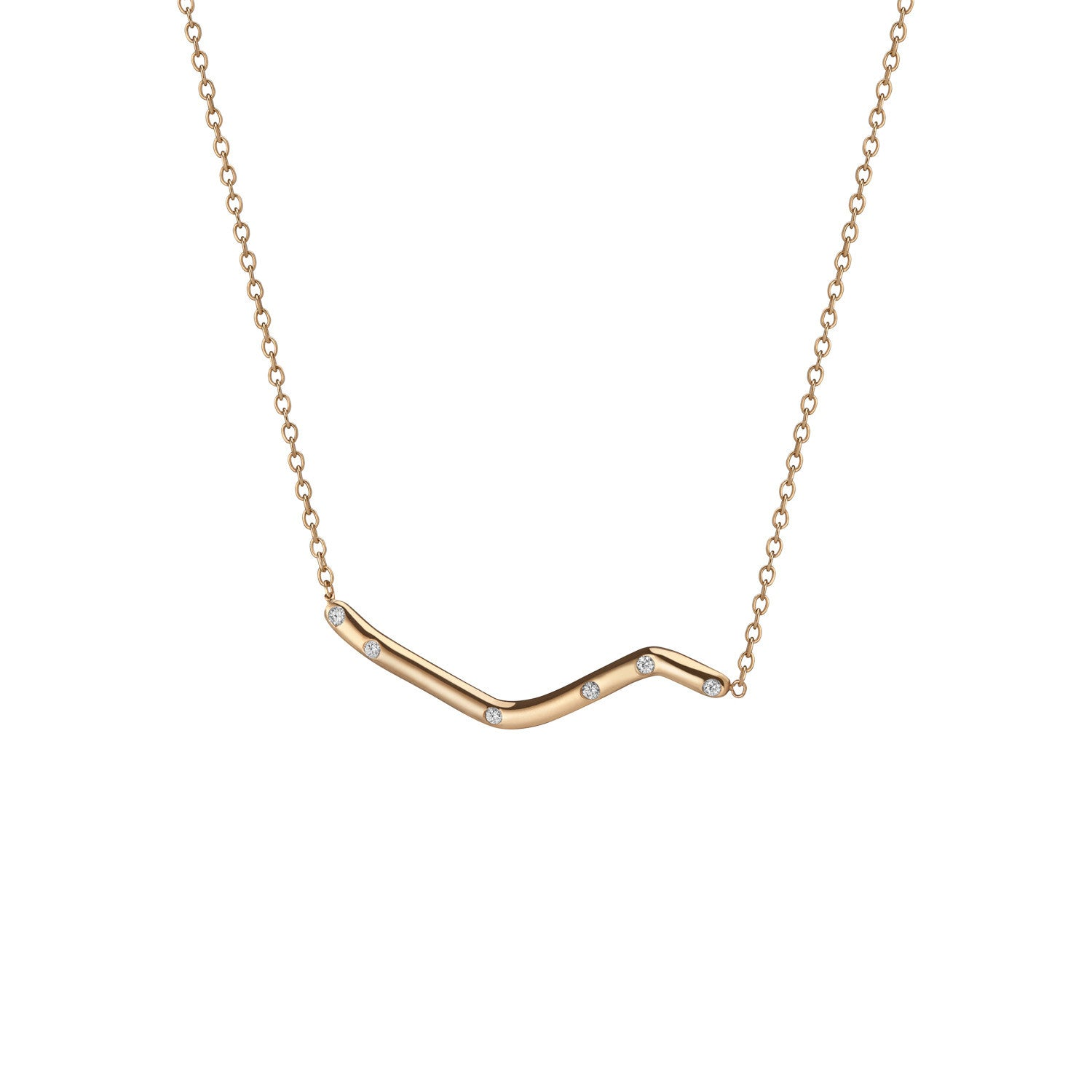 14K Gold Subway Necklace - Broadway Central Park to City Hall